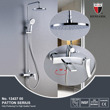 Contemporary surface mounted 3 way rain shower set