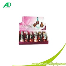 Fast dry long lasting Nail polish cardboard counter display , corrugated paper packing boxes for hot retail sales