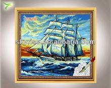 hecho a mano aceite de pinturas de los barcos