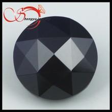 black facet decorative glass diamonds