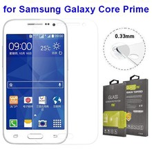 Curved Edge Pattern 2.5D Tempered Glass Screen Protector for Galaxy Core Prime