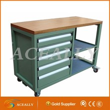 Mobile Metal Tool Cabinet with Drawers for Office