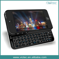 Slide-out Backlight Bluetooth Wireless Keyboard Case for iPhone 5 5s 5c