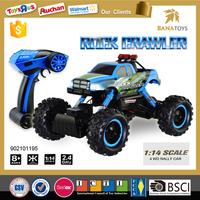 Big promotion! High quality 1:14 2.4G 4 wheel drive rc rock crawler electric toy car for big kids