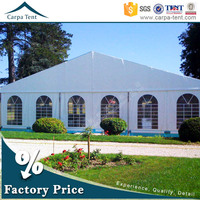 Fabric covered buildings display tent with waterproof cover