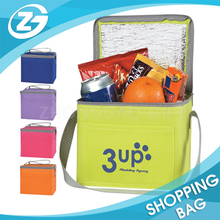 Your Designed Logo Printed Assorted Color with Adjustable Shoulder Portable Flexible Commercial Non Woven Cooler Bag