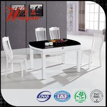promotion glass top extendable round dining table