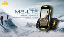 Snopow M8 IP68 waterproof 4G-LTE full networks android 5.1 OTG NFC RFID 2G ROM 16G dual sim card 3g flip phone