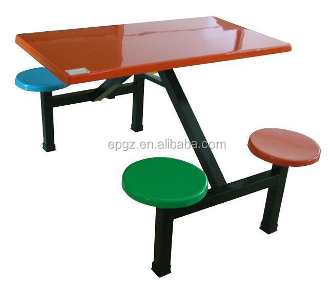 Modern cheap school canteen table and chair school dining for Modern furniture for sale cheap