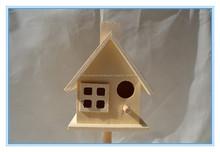 2015 arte de la mano pequeñas artesanías de madera casa del pájaro