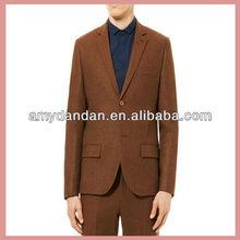 premium rust herringbone heritage fit suit