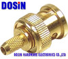 BNC connector Plug male RG6 cable crimp gold plated connector
