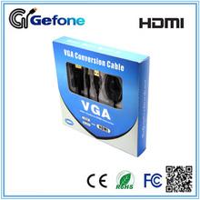 PC to HDTV VGA Plus RCA Audio output to HDMI 1080p Input Adapter Converter