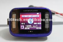 High quality Colorful bluetooth car mp4 players manual FM transmitter