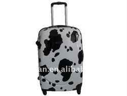 animal print luggage/cow luggage/printed hard luggage