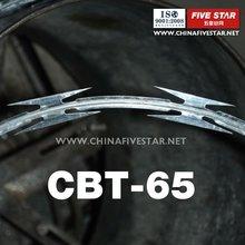 BTO/CBT10-65 Razor alambre/ Alambre afilado (ISO9001: 2008 fabricante certificado)
