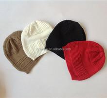Venta superior barato de punto para niños de punto sombreros de invierno