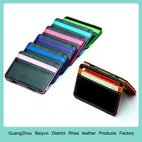 Mens Custom Front Pocket ID Business Credit Card Holders Personalized Slim Leather Minimalist Funny Money Clip Magic Wallet