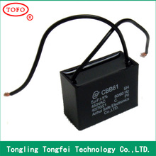 TOFO Motor run Capacitor square type CBB61 reasonable price capacitor made in china