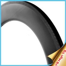 2015 YISHUNBIKE high TG light bicycle rim full carbon 20/24 holes 700c 88mm height U shape perfect braking track clincher HTG8C