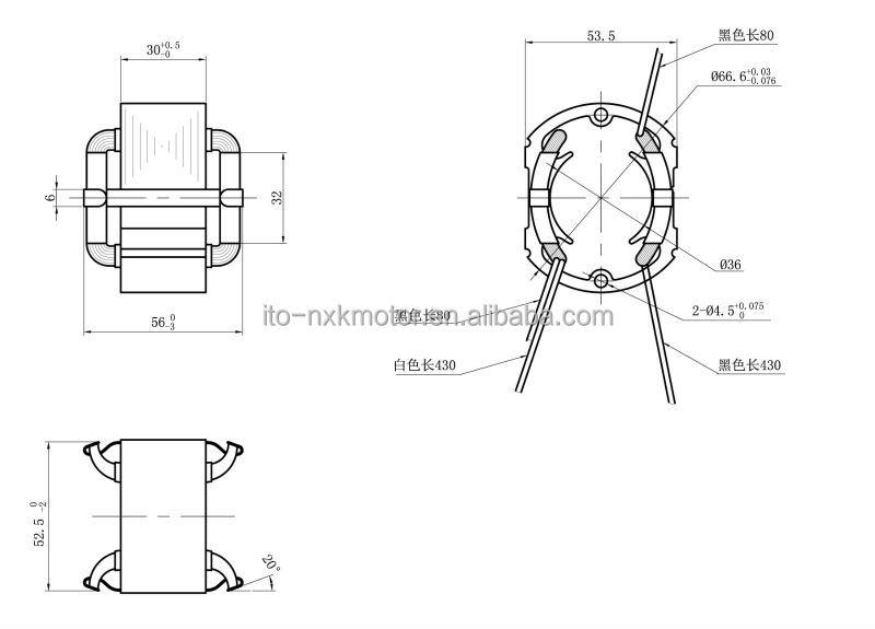 12v  24v  36v permanent magnet dc motor sator rotor