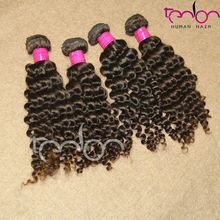 wholesale pirce double layers natural color curly indian hair wet curl