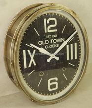 metal sliver oval antique clock
