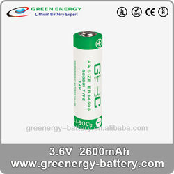 3.6v lisocl2 battery AA ER14505 repalce tadiran 3.6v lithium battery