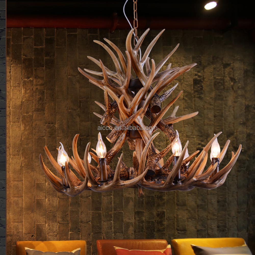 lustre bois antique d corative pendentif lumi re de cerf moderne lustre hall de l 39 h tel lustre. Black Bedroom Furniture Sets. Home Design Ideas
