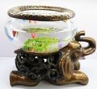 Chapeamento elefante resina mini aquário de