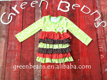 New fashion baby clothes flower brooch multilayer ruffles top tops and blouses 2015 kids clothes