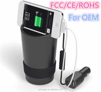 Hottest products on the market Creative 3 Port USB Cup Car Charger import mobile phone accessory