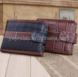 Newest design crocodile skin leather men wallet with coin pocket