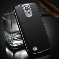New arrival Hot selling high quality PU +PC leather shockproof case for samsung galaxy s4 mini