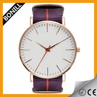 Bonill Nato nylon watch easy to swap strap alloy watch