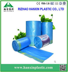 HDPECustomized plastic garbage bag on roll