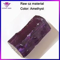 Cheap factory price amethyst cubic zirconia cz rough gemstone raw material for jewelry wholesale