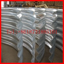 assembly segmentalized corrugated metal culvert plate pipe arch, culvert. structural plate