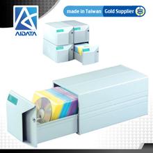 AIDATA Stackable CD DVD Case Box Storage
