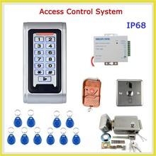 Door Access Control Controller Waterproof IP68 Metal Case RFID Reader Keypad Remote Control Electric Door Lock