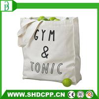 custom logo white organic shopping cotton bag