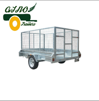 8x5 Galvanised Single axle box trailer and removable cage