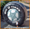 outdoor promotion advertising inflatable tire model with air blower