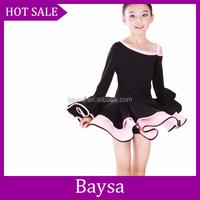 Wholesale dropship kids Latin Dance Dress Ballroom Dancing trainning dance dress children stage dance costumeBC499