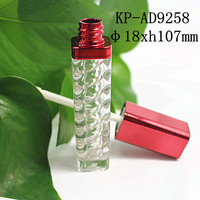 Popular Red PMMA Custom Lip Gloss Tube Manufacturers Cosmetic Packaging Lip Balm Bottle Container Packaging