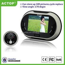 2015 ACTOP 3.5 inch TFT LCD Screen digital peephole viewer/door bell