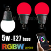 5w Android and ios Smart Wifi Remote Control LED RGB RGBW Wifi led bulb