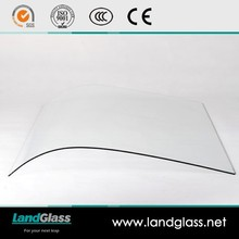 Curvada / curva de vidrio templado de alta clase autobuses y edificios