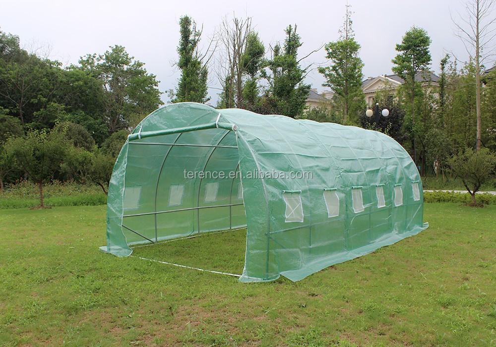 6x3x2 m polytunnel jardin effet de serre pollytunnel - Cloche en plastique transparent jardin ...