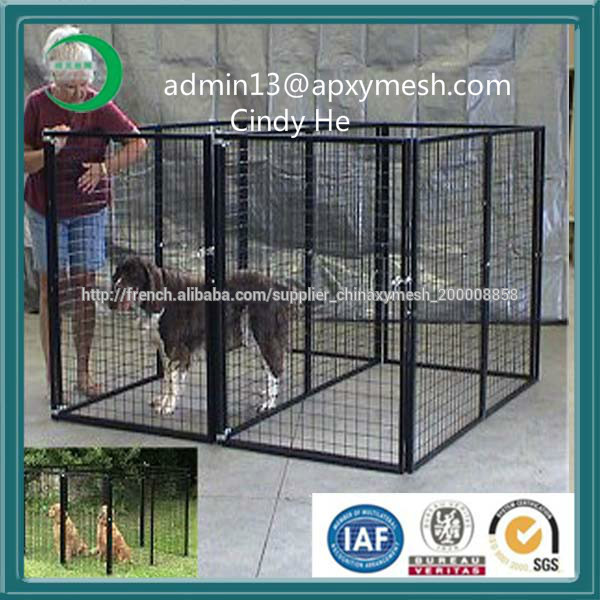 grande cage de chien en acier inoxydable chien courir. Black Bedroom Furniture Sets. Home Design Ideas